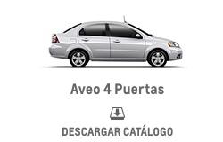 Catálogo Chevrolet Aveo 4 Puertas