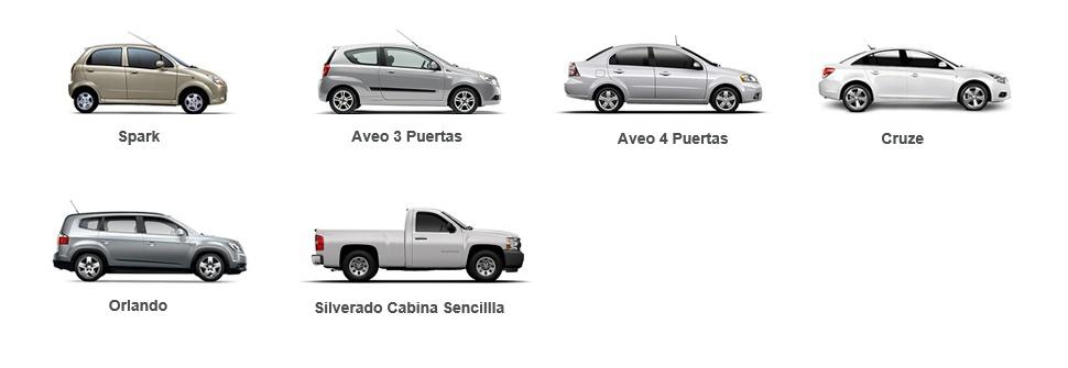 Modelos Chevrolet con ChevyStar